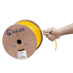 Cat6A Plenum yellow with hand